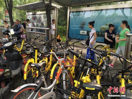 资料图:共享单车。中新社记者 刘关关 摄