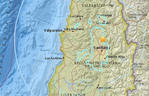 智利中部发生5.5级地震 震源深度88.2公里