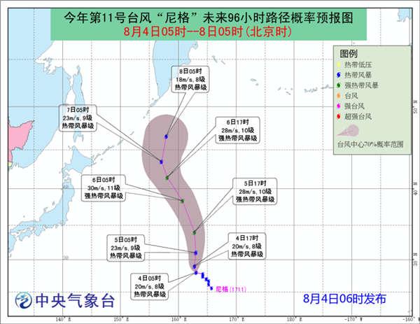 """台风""""尼格""""未来对我国海域无影响"""