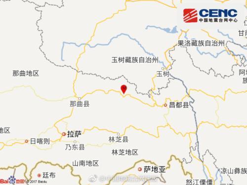 西藏那曲地区巴青发生3.3级地震 震源深度8千米
