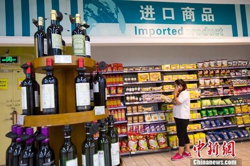 资料图:进口商品。中新社记者 张云 摄