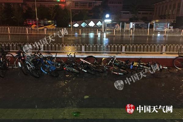 昨夜北京遭遇疾风骤雨。(图/杨兴)