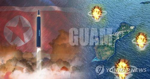 韩国国安常委会今天下午将开会讨论朝鲜对关岛的