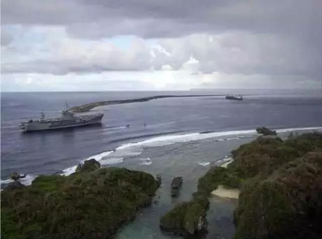 △资料图:美军在关岛的军事基地