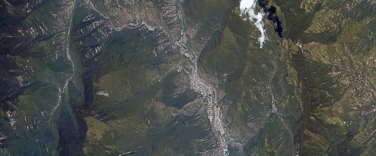 九寨沟县卫星影像