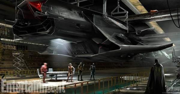《正义联盟》蝙蝠侠巨型飞机曝光 老爷新玩具制霸全场