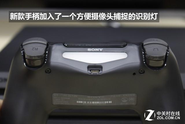 PS4开始沿用的手柄增加了一个便于进行体感的灯