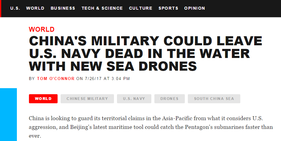 南海奇兵?中国这款装置吓坏西方被称可让美海军死在水里