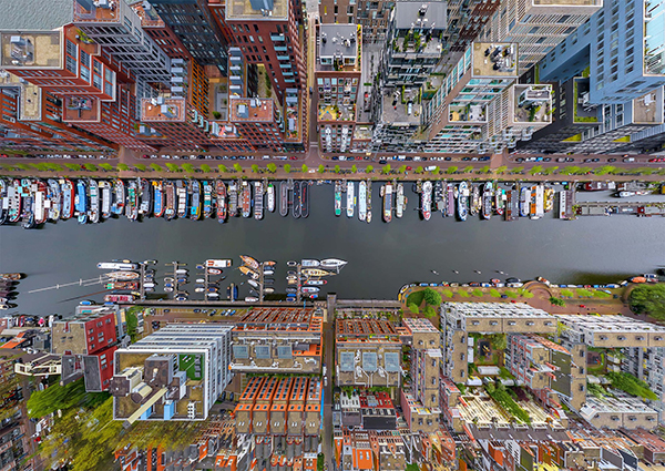 荷兰阿姆斯特丹Westerdok滨水区。