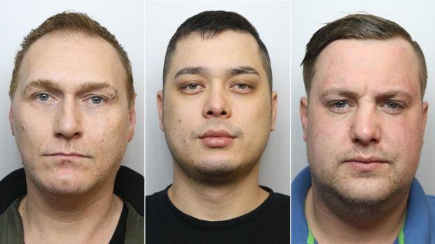 (三名犯罪嫌疑人。图据英国广播公司)