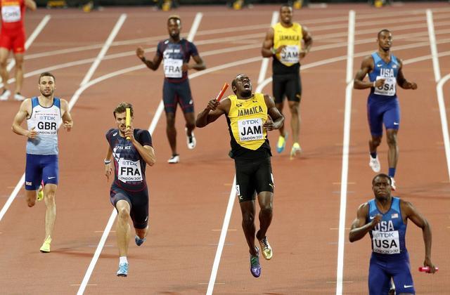 遗憾谢幕!伦敦世锦赛百米接力博尔特拉伤未完赛 中国获第四