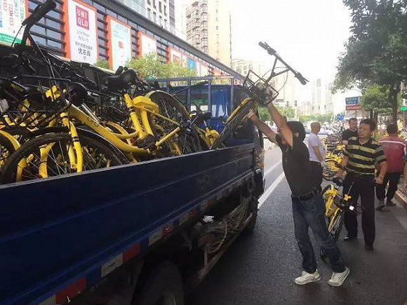 行业话题--上海交警:非机动车停车位外不允许投放共享单车