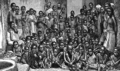 △图为苦难中的非裔奴隶