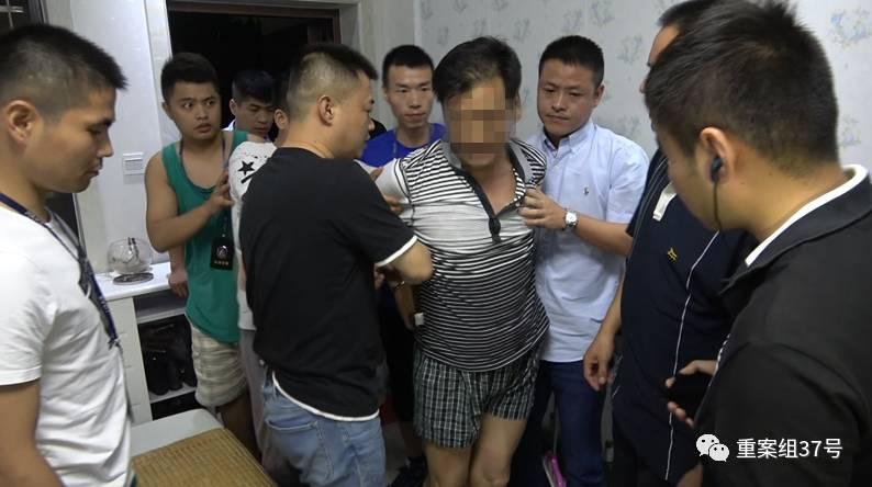 ▲2017年8月11日,警方将22年前血案嫌疑人刘彪抓获。 警方供图