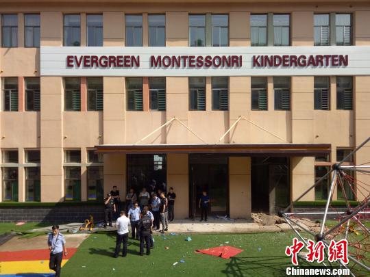 图为事发幼儿园外部。 李洋 摄