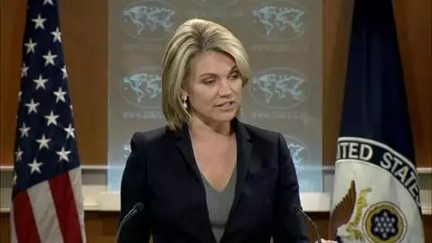图:美国国务院讲话人口希瑟·诺尔特