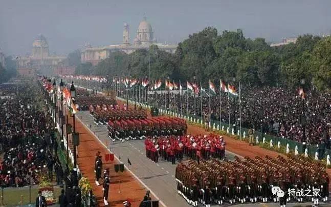 阅兵式上的印度陆军