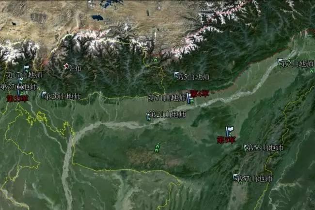 印军在中印界限的军力部署示意图(网络资料)