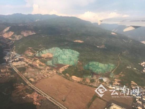 云南大理山峰泼绿漆应付卫星拍照? 官方回应