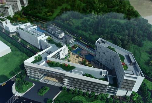 材料图:广东以色列理工学院校园沙盘模子。新华社记者 卢汉欣 摄