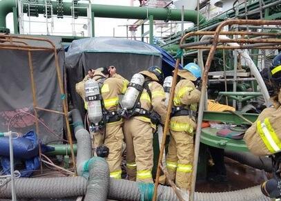 韩国一造船厂内油轮爆炸致4死 事故原因正在调查