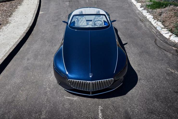 """奔驰发布敞篷版迈巴赫 Vision 6 概念车,豪华车也越来越倾向""""电动化""""了"""