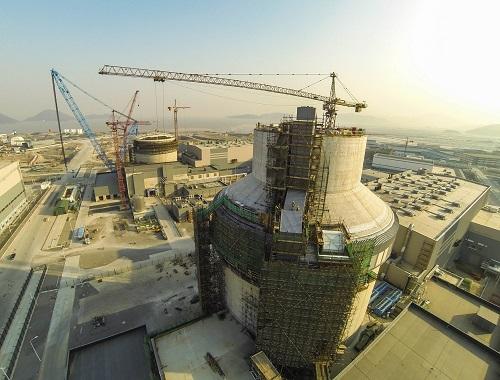材料图:三门核电站一期工程在建的1、2号机组。新华社记者 徐昱 摄
