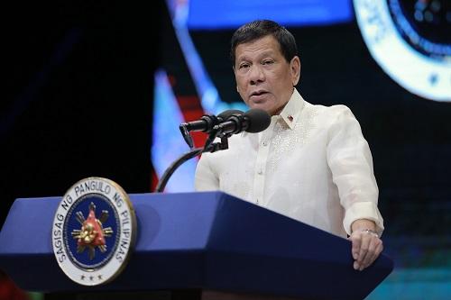 资料图片:菲律宾总统杜特尔特 新华社发