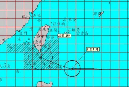 台湾发布台风天鸽陆上警报 屏东、台东为警戒区