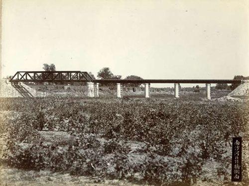 建成之初的南沙河大桥,由西向东拍摄(王嵬提供)
