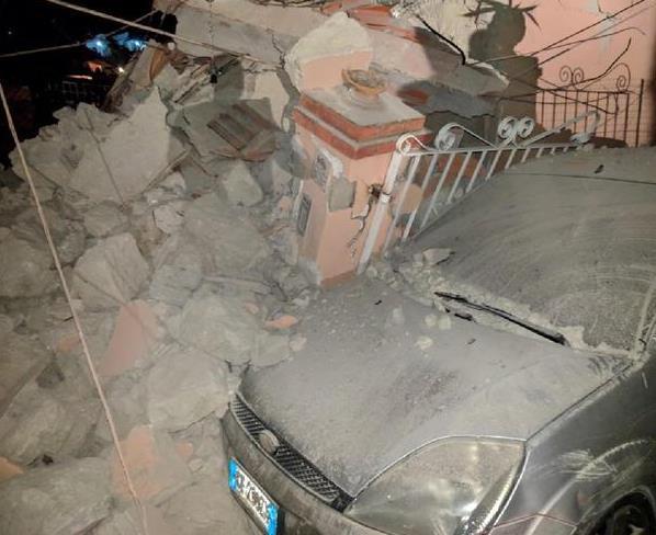 意大利伊斯基亚岛发生4.0级地震 已造成2人死亡