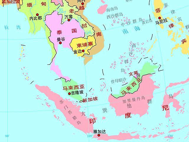 中国到新加坡地�_新加坡位于马六甲海峡一端,而马六甲海峡是中国及其他亚洲国家对外