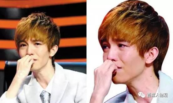 图:郭敬明在《爵迹》媒体见面会上落泪