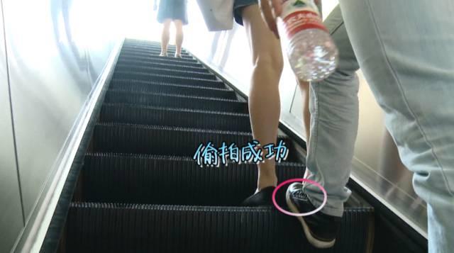 偷拍子_在自动扶梯上的偷拍更是易如反掌,成功率超高.