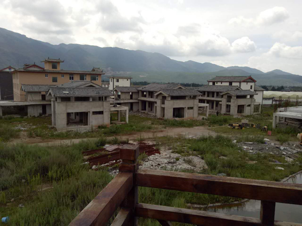 未批先建的别墅群撤除之前。白沙镇当局供图