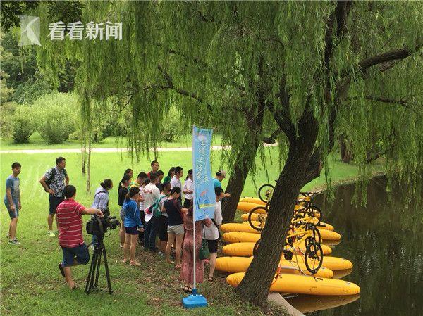 """水上浪骑""""活动首秀共青森林公园_有望成为户外健身休闲新时尚"""