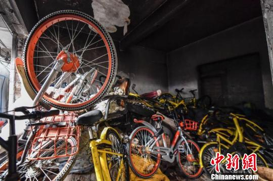 共享单车无序投放、乱停乱放等成为广州城市管理中的一个顽疾(资料图)陈骥�F 摄