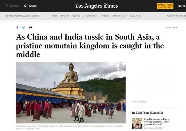 ▲图为《洛杉矶时报》的报道