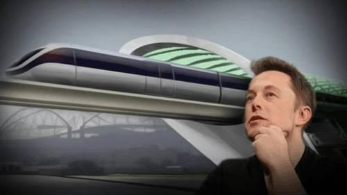 马斯克和他的超级高铁 图片来源:网路
