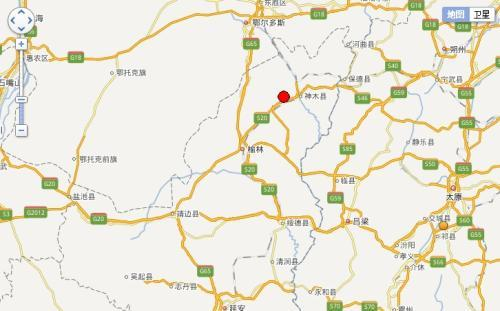陕西神木县发生2.6级地震 震源深度0公里