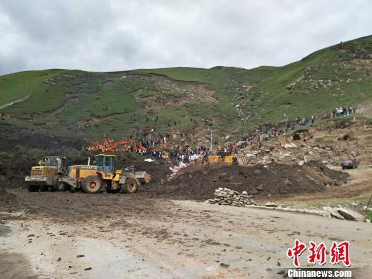 青海玛沁山体滑坡灾害 90余人被疏散600多人参与救援
