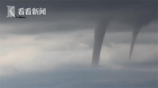 视频|惊魂降落!客机从一排龙卷风旁飞过 毫发无损成功着陆
