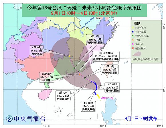 """台风""""玛娃""""将于明日登陆 广东半月内遭第3次台风袭击"""