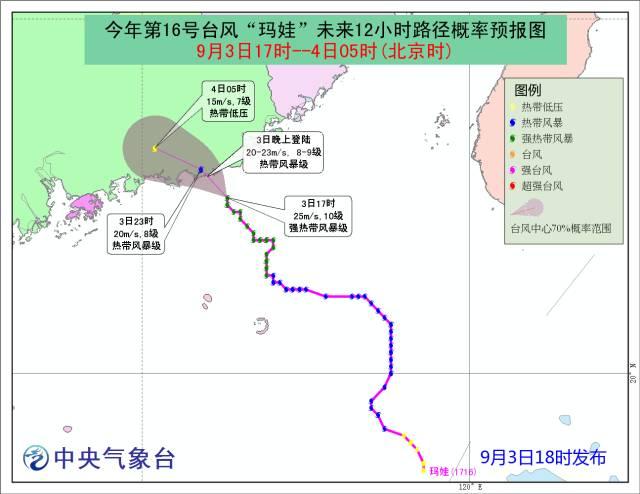 """最新消息!台风""""玛娃""""将于今晚登陆汕尾附近,注意防范!"""