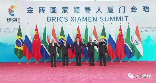 五国领导人合影