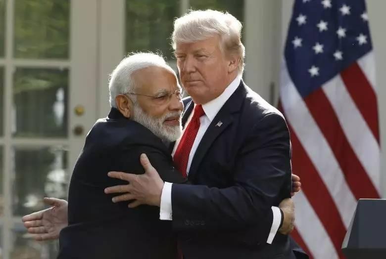 ▲资料图片:6月26日,印度总理莫迪在白宫与美国总统特朗普进行首次面对面会晤。(路透社)