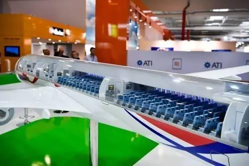 ▲中俄远程宽体客机模型