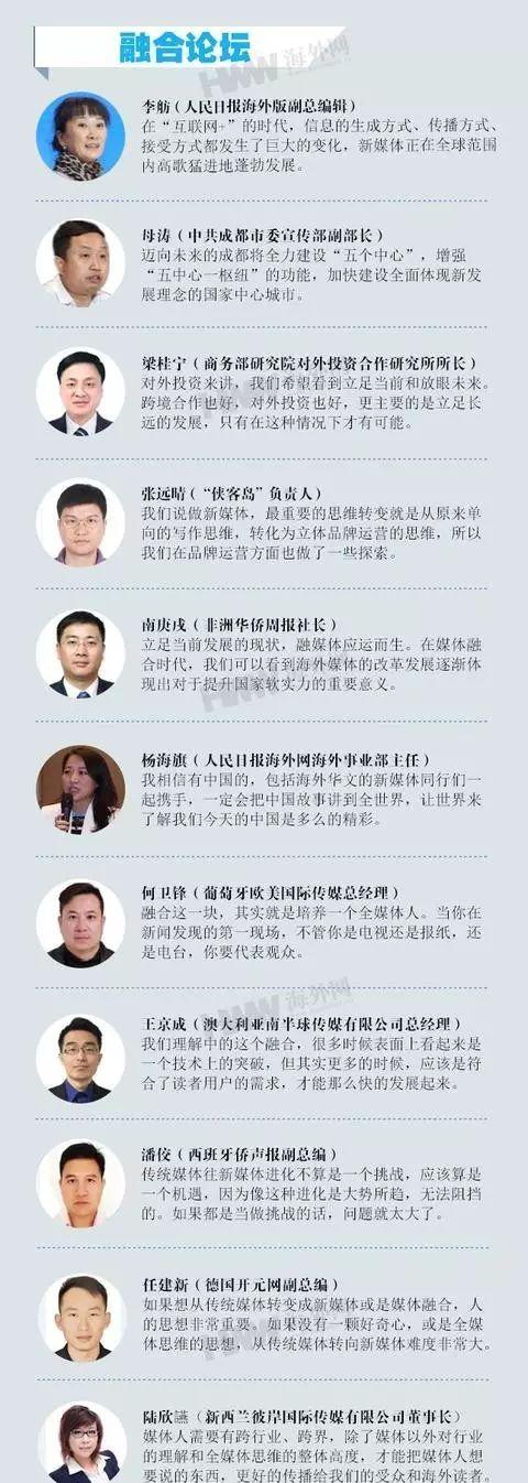 【论坛】第二届海外华文新媒体高峰论坛嘉宾精
