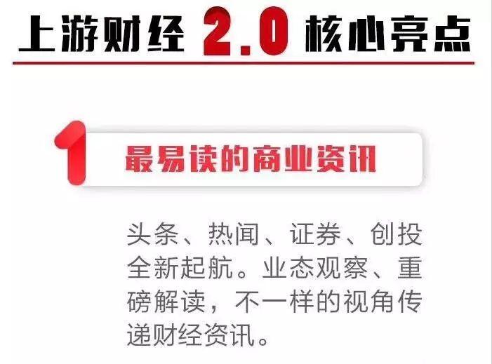 在这里读懂经济:上游财经2.0版本日正式上线