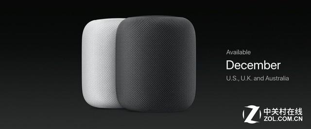 苹果Homepod将在12月登陆